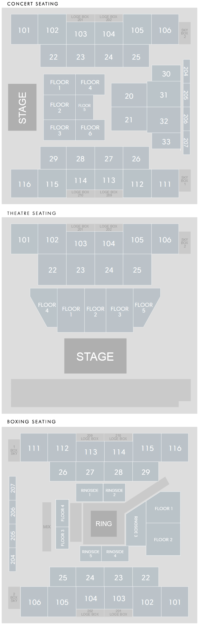 Event Center Seating Chart