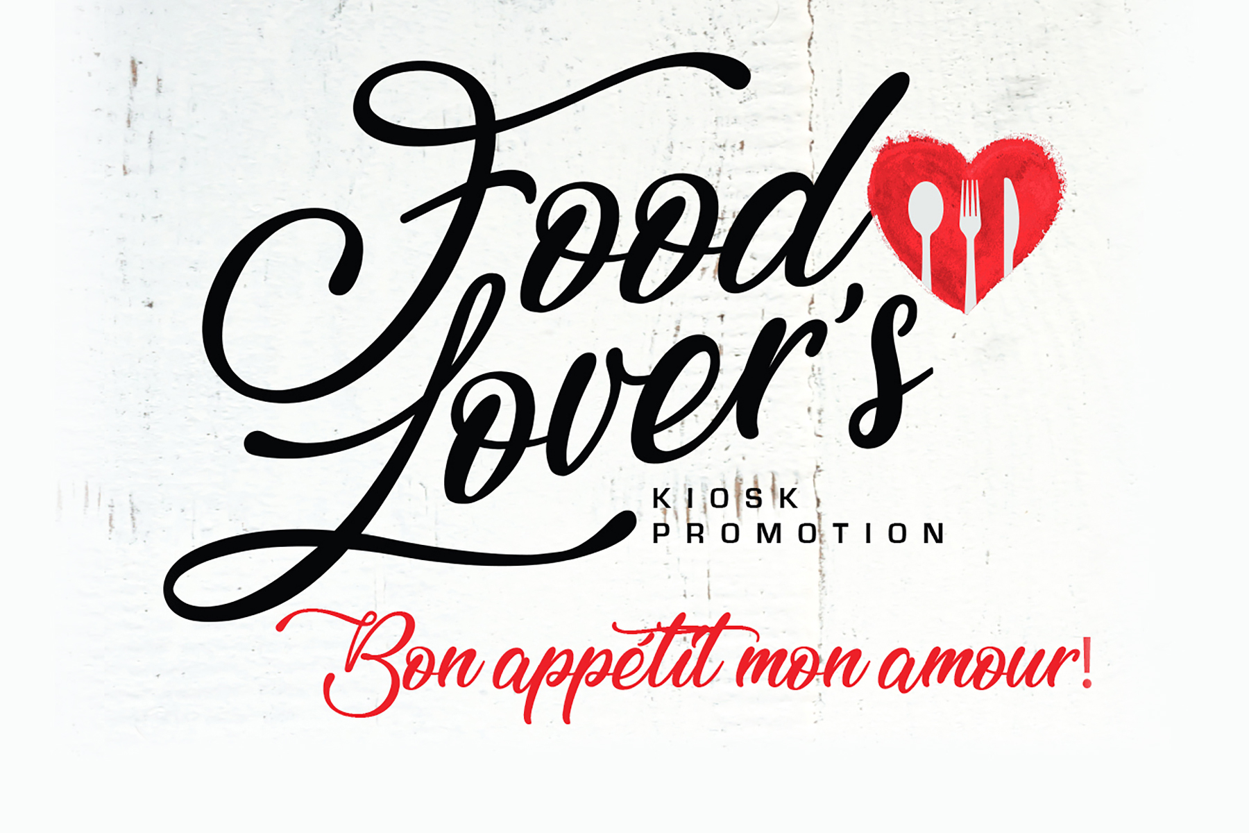 Food Lover's Kiosk Promotion
